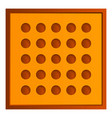 square tea biscuit icon cartoon style vector image vector image