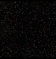 starry sky hand draw seamless pattern doodle vector image