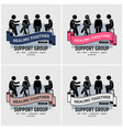 support group centre logo design artwork of vector image vector image