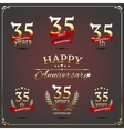 Thirty five years anniversary signs collection vector image vector image