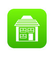two-storey house with sloping roof icon digital vector image