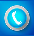 White telephone handset icon phone sign