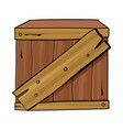 wooden box vector image vector image