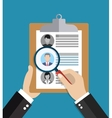 Searching professional staff vector image