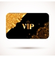 Black vip card template with glitter effect and vector image