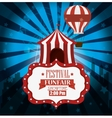 poster festival funfair tent airballoon light vector image