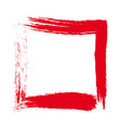 a red square hand drawn vector image vector image