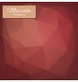 Abstract polygonal background Marsala vector image