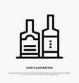 alcohol beverage bottle bottles line icon vector image