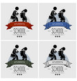 back to school logo design artwork small vector image vector image