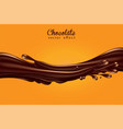 background for advertising chocolate a jet of vector image vector image