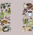 background with food and cosmetic care vector image vector image