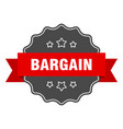 bargain label isolated seal sticker sign vector image vector image