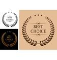 Best choice emblem vector image vector image