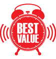 Best value red alarm clock vector image vector image