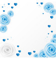 blue and white roses for greeting card invitation vector image