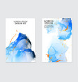 blue watercolor repetition liquid flow ink navy vector image vector image
