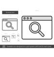 Browse line icon vector image vector image