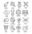 Business management icons in line style Pack 28 vector image vector image
