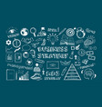 business strategy icons vector image vector image