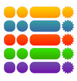 button banner badge shapes in different color vector image