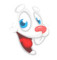 cartoon easter rabbit face avatar vector image