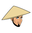 character face samurai man warrior design vector image vector image