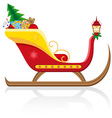 christmas santa sleigh 01 vector image vector image