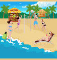 coastline sports recreation background vector image