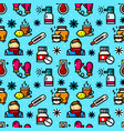 cold seamless pattern vector image vector image