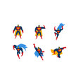 collection of superheroes superman character men vector image vector image