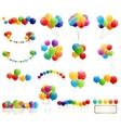 Color Glossy Balloons Mega Set vector image