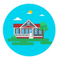 colorful flat residential house or town house vector image vector image