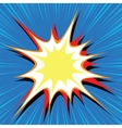 Comic book explosion bubble dynamic vector image vector image