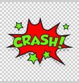 crash comic sound effects sound bubble speech vector image vector image