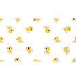 cute ducks swimming seamless pattern vector image vector image