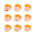 cute kid avatars emotions vector image