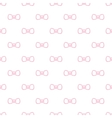 cute minimalistic bow tie seamless pattern vector image