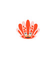 cute seahell funny sea creature hand drawn vector image vector image