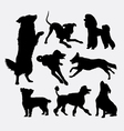 Dog pet animal silhouette 6 vector image vector image