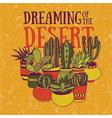 dreaming desert vector image