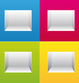 empty colorful bookshelf vector image vector image