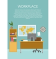 Empty Workspace Design vector image