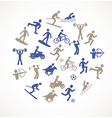 Games and sport icons vector image