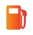 Gas pump sign Orange applique isolated vector image vector image