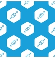 Gender symbols hexagon pattern vector image