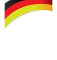 german flag ribbon corner frame vector image vector image