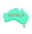 green 3d Australia silhouette vector image vector image