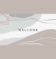 hand darwn abstract organic shapes and lines vector image