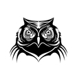head a wise old owl vector image